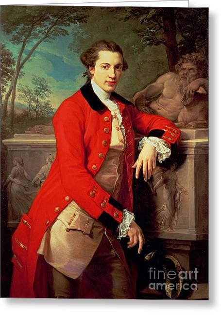 Portrait Of Edmund Rolfe Greeting Card by Pompeo Girolamo Batoni