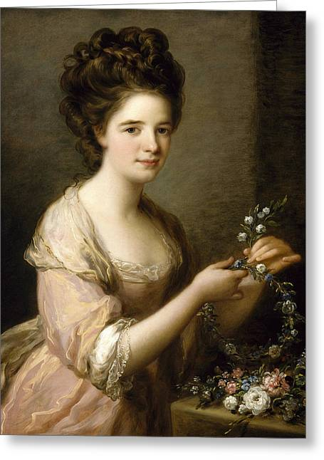 Portrait Of Eleanor, Countess Of Lauderdale Greeting Card by Angelica Kauffman