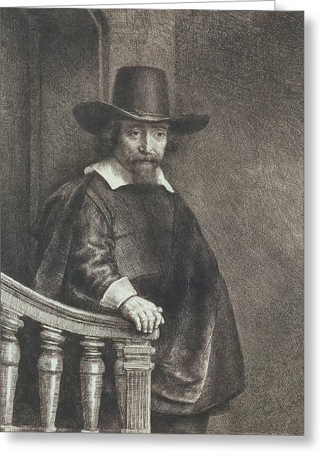 Portrait Of Ephraim Bueno, Physician Greeting Card by Rembrandt