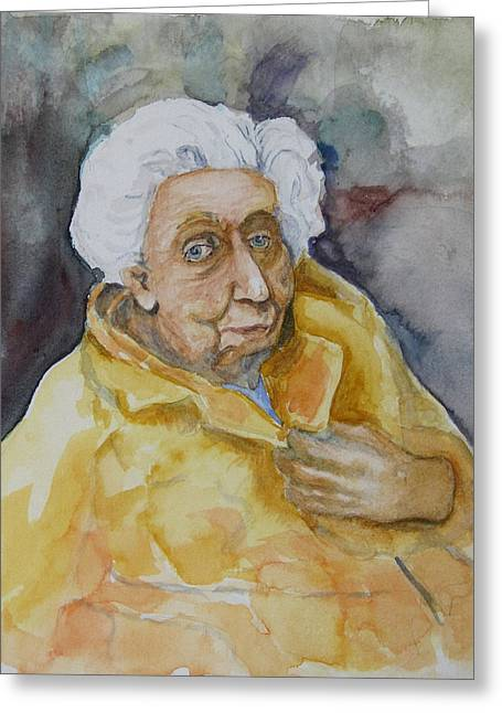 Portrait Of Eudora Welty   Greeting Card by Dan Earle
