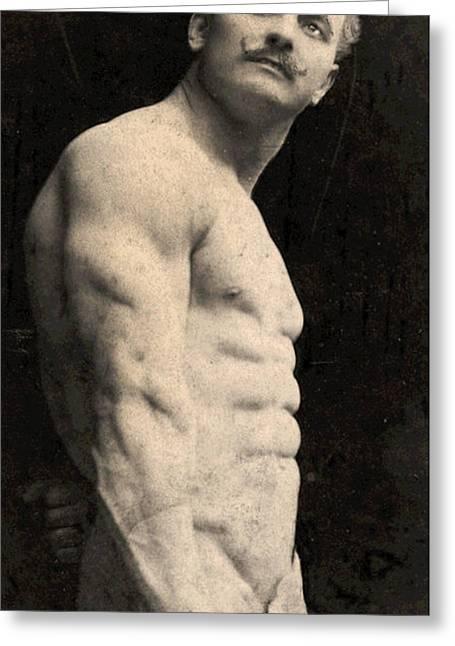 Portrait Of Eugen Sandow Greeting Card