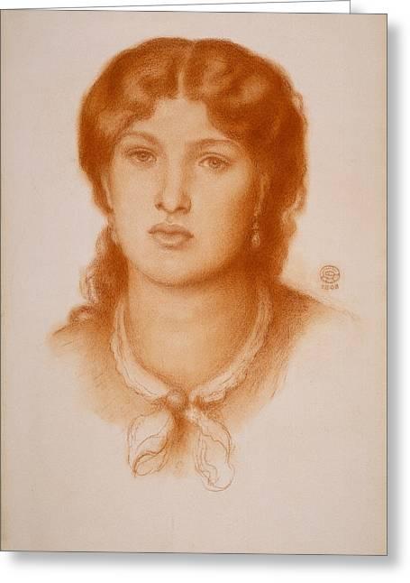 Portrait Of Fanny Cornforth Greeting Card