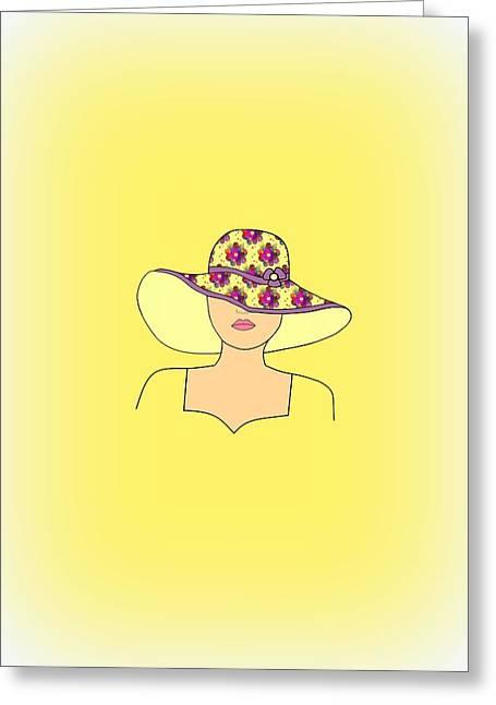 Portrait Of Fashion Greeting Card