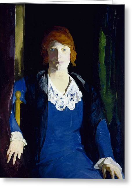 Portrait Of Florence Pierce Greeting Card by George Bellows