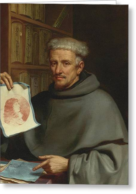 Portrait Of Fra Bonaventura Bisi Greeting Card by Giovanni