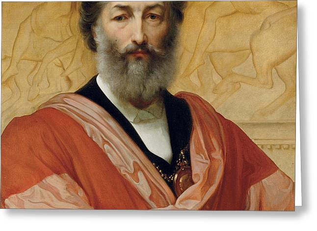 Portrait Of Frederic Leighton Greeting Card by Paolo Fossi