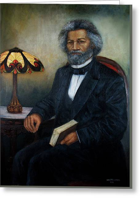 Portrait Of Frederick Douglass Greeting Card by Sylvia Castellanos