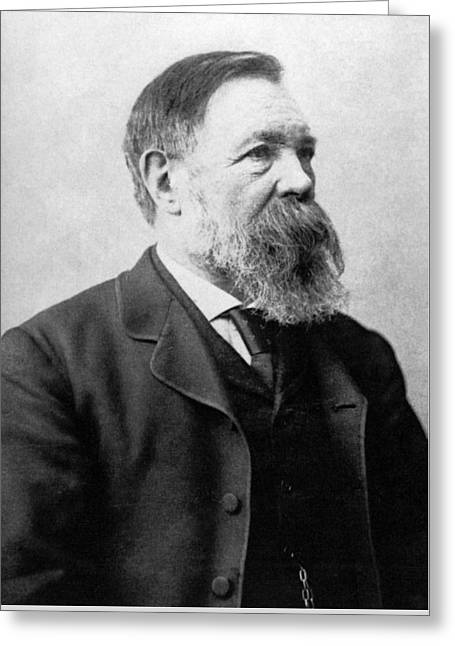 Portrait Of Friedrich Engels Greeting Card by German School