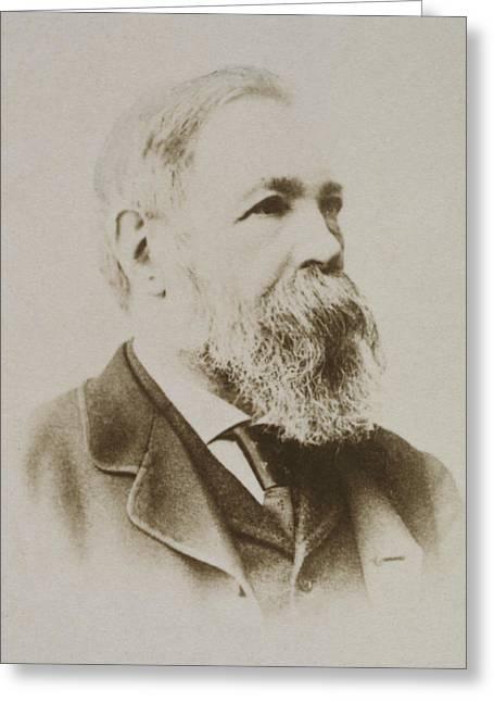 Portrait Of Friedrich Engels Greeting Card