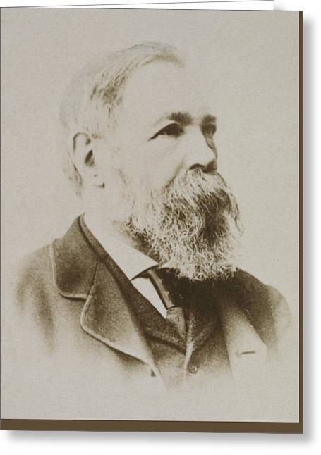 Portrait Of Friedrich Engels Greeting Card by Karl Pinkau