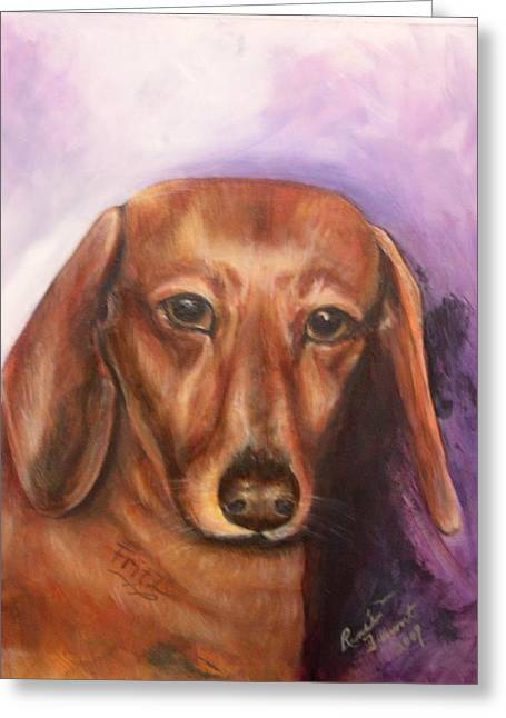 Portrait Of Fritz - Commissions Accepted Greeting Card by Renee Dumont  Museum Quality Oil Paintings  Dumont