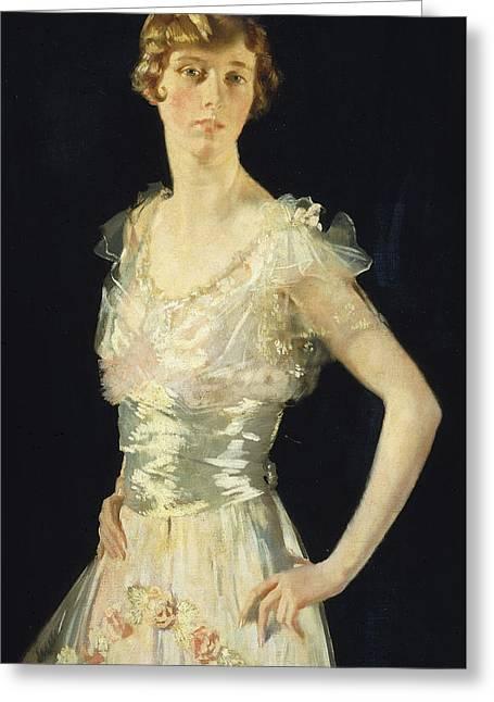 Portrait Of Gardenia Greeting Card