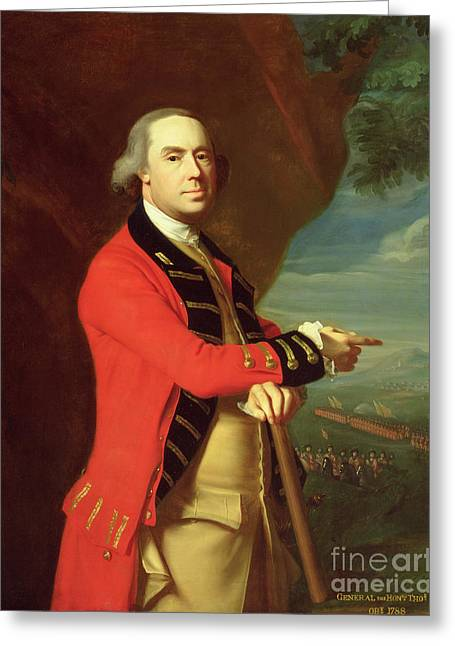 Officers Quarters Greeting Cards - Portrait of General Thomas Gage Greeting Card by John Singleton Copley