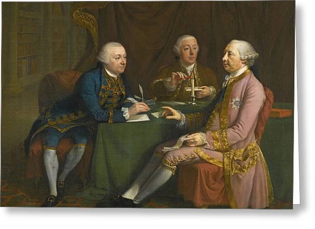 Portrait Of George Montagu Greeting Card by Douglas Hamilton