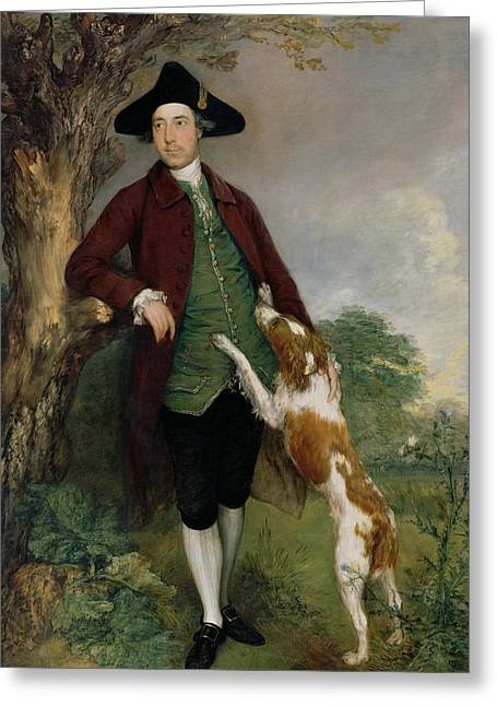 Spaniel Greeting Cards - Portrait of George Venables Vernon Greeting Card by Thomas Gainsborough