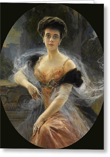 Portrait Of Grand Duchess Elena Vladimirovna Of Russia Greeting Card