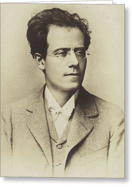 Portrait Of Gustav Mahler Greeting Card