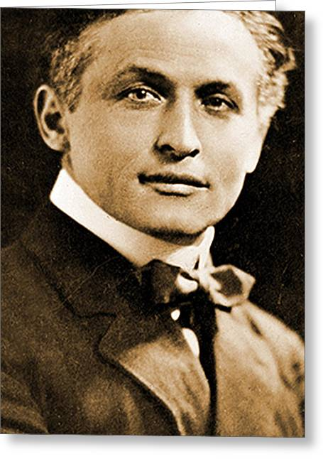 Portrait Of Harry Houdini, 1910 Greeting Card