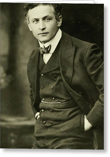 Portrait Of Harry Houdini, 1913 Greeting Card