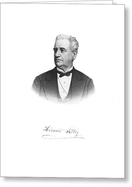 Portrait Of Hiram Sibley Greeting Card by Underwood Archives