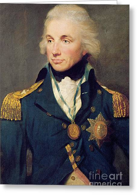 Portrait Of Horatio Nelson Greeting Card by Lemuel Francis Abbott