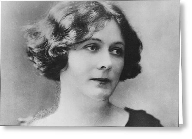 Portrait Of Isadora Duncan Greeting Card by French School