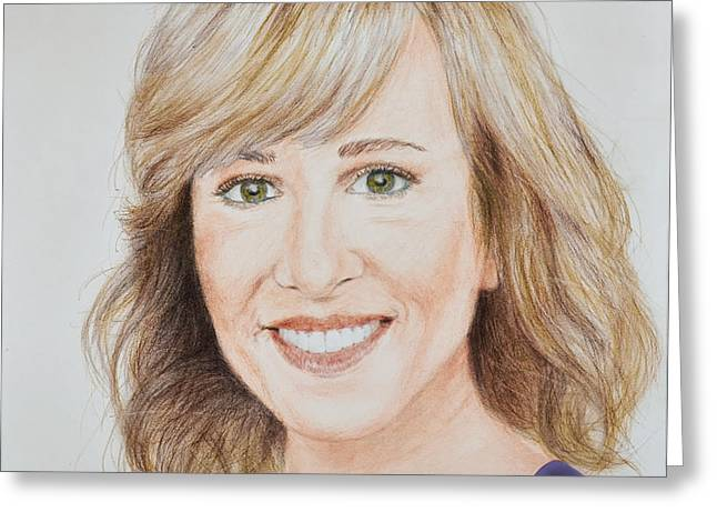 Portrait Of Jamie Colby Greeting Card
