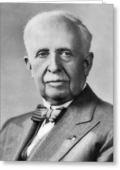 Portrait Of J.c. Penney Greeting Card
