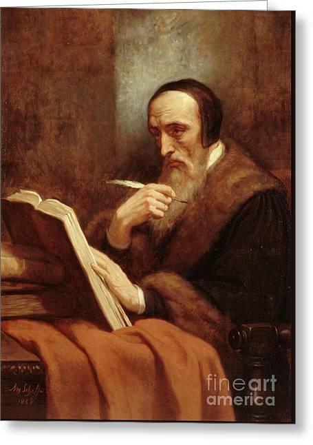 Portrait Of Jean Calvin Greeting Card