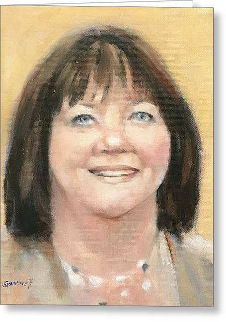 Portrait Of Joann Greeting Card