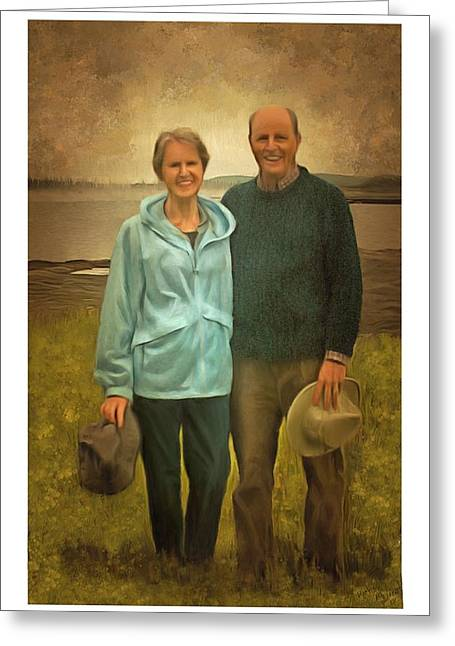 Portrait Of Joe And Denise Greeting Card