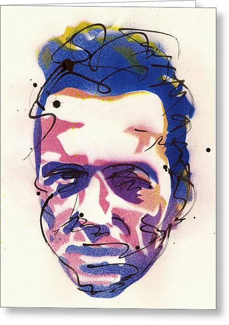 Portrait Of Joe Strummer Greeting Card