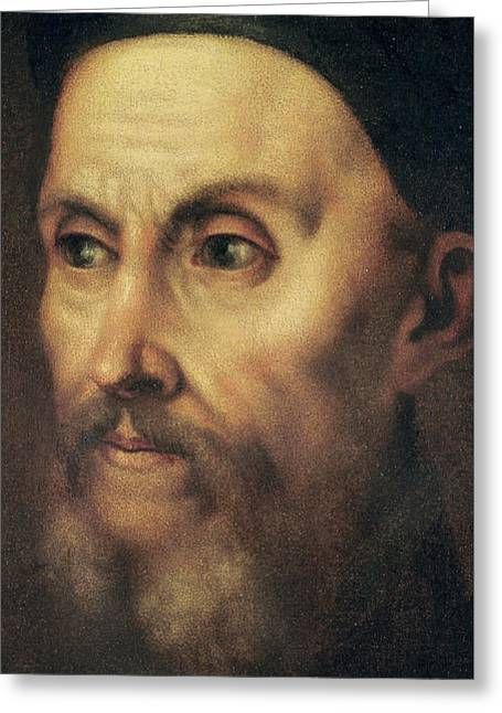 Portrait Of John Calvin Greeting Card
