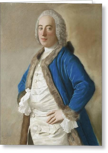 Portrait Of Joseph Bouer - Merchant Of Genoa Greeting Card