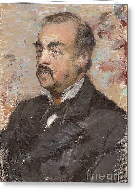 Portrait Of Julien De La Rochenoire By Edouard Manet Greeting Card