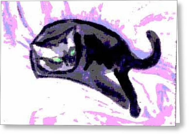 Portrait Of Junior On His Satin Coverlet Greeting Card by Ocean