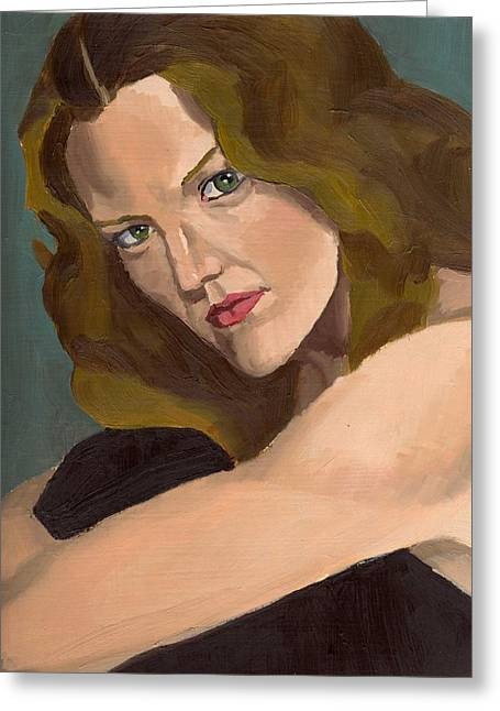 Portrait Of Kathy Arvidson Greeting Card
