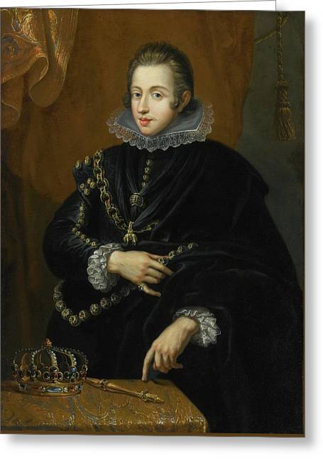 Portrait Of King Philip Iv Of Spain Greeting Card