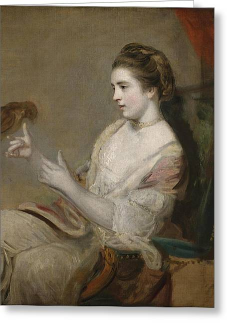 Portrait Of Kitty Fisher Greeting Card by Joshua Reynolds