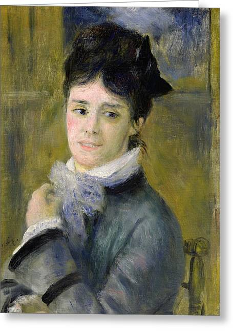 Portrait Of Madame Claude Monet Greeting Card by Renoir