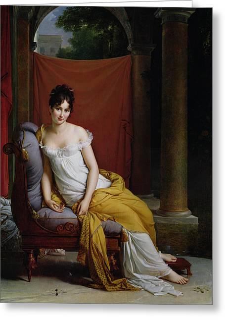 Portrait Of Madame Recamier Greeting Card