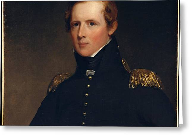 Portrait Of Major John Biddle Greeting Card by Celestial Images
