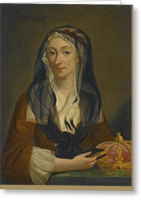 Portrait Of Maria Clementina Sobieska Greeting Card by Studio of Antonio David