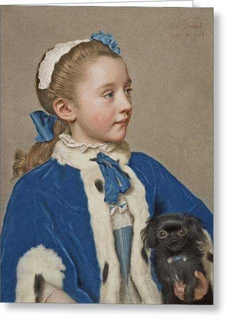 Portrait Of Maria Frederike Van Reede-athlone At Seven Years Of Age Greeting Card