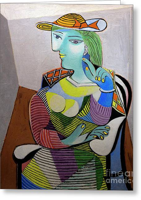 Portrait Of Marie-therese, By Pablo Picasso, 1937, Musee Picasso Greeting Card