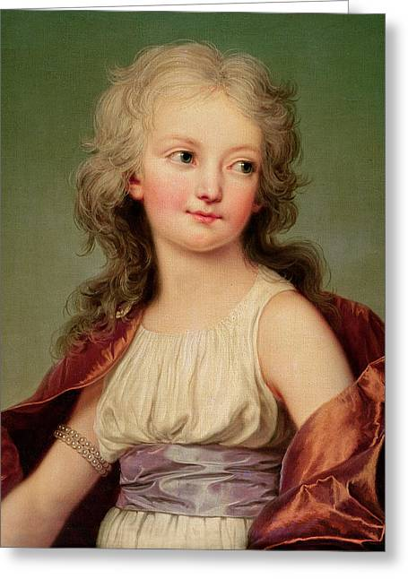 Portrait Of Marie-therese Charlotte Of France Greeting Card by Adolf Ulrich Wertmuller