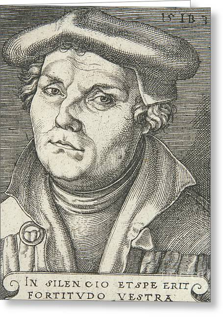 Portrait Of Martin Luther, 1530  Greeting Card
