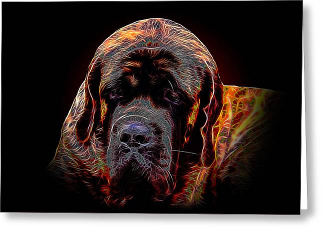 Portrait Of Mastiff Greeting Card