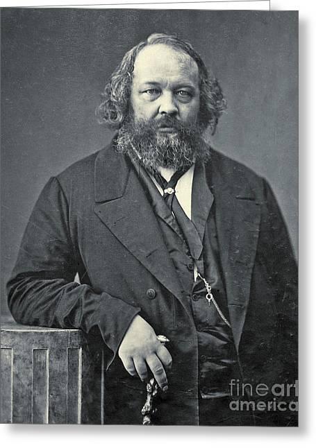 Portrait Of Mikhail Aleksandrovich Bakunin Greeting Card by Nadar