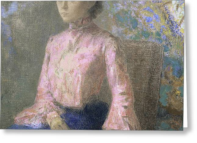Portrait Of Miss Jeanne Chaine, 1903 Greeting Card
